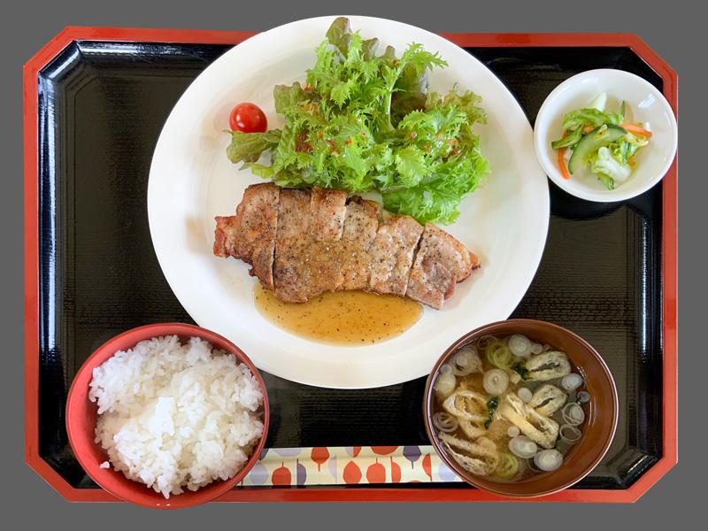 ヤシオポークソテー定食