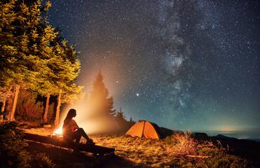 星空観察ナイトハイキング